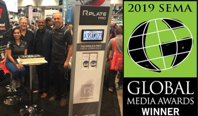Rplate Pro™, the World's First Digital License Plate, Named 2019 Global Media Award Winner at the SEMA Show